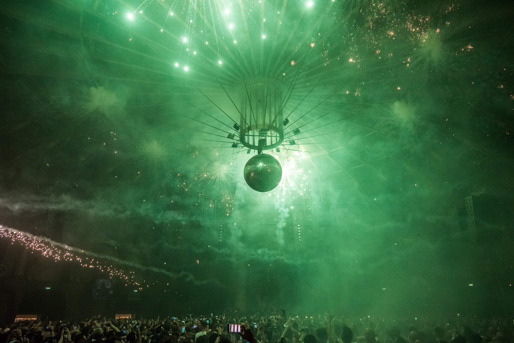 Fireworks at the Gashouder Amsterdam. Techno night with Adam Beyer. Drumcode